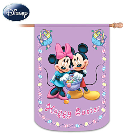 """Mickey And Friends"" Happy Easter Flag"