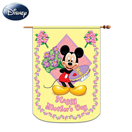 "Mickey Mouse ""Happy Mother's Day"" Decorative Flag"