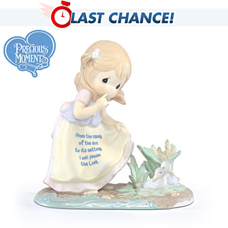 "Precious Moments ""Praise The Lord Night And Day"" Figurine"