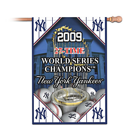 NY Yankee World Series 27 Wins Commemorative Flag