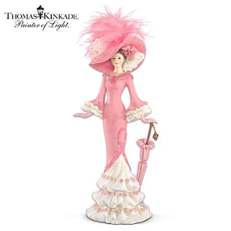 Thomas Kinkade Breast Cancer Support Lady Figurine