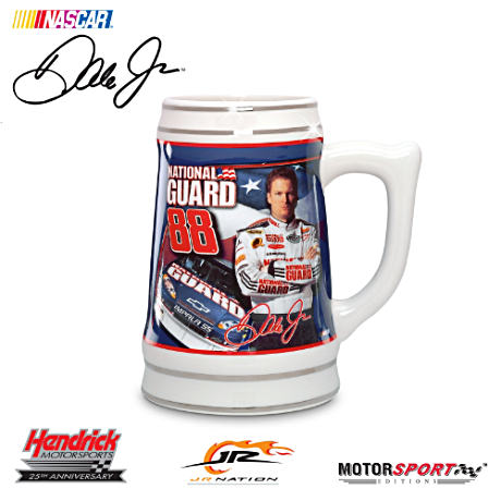 "Dale Jr. ""On Guard"" Ceramic Stein"