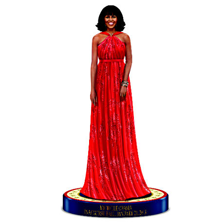 Michelle Obama 2013 Inaugural Ball Fashion Figurine