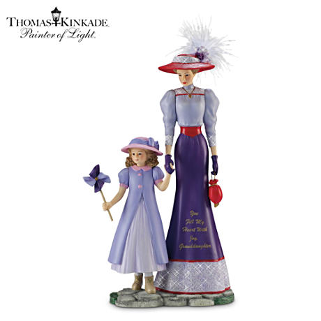 Kinkade Victorian-Style Grandmother/Granddaughter Figurine