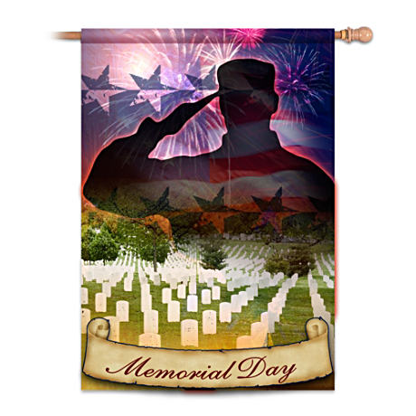 Memorial Day Decorative Flag