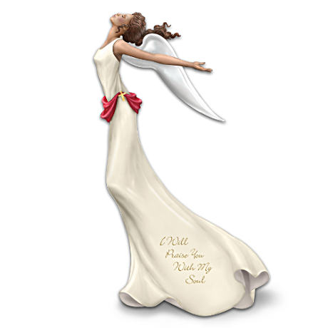 """I Will Praise You With My Soul"" Angel Figurine"