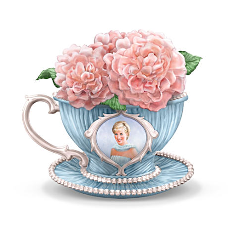 Princess Diana Tribute Teacup Figurine