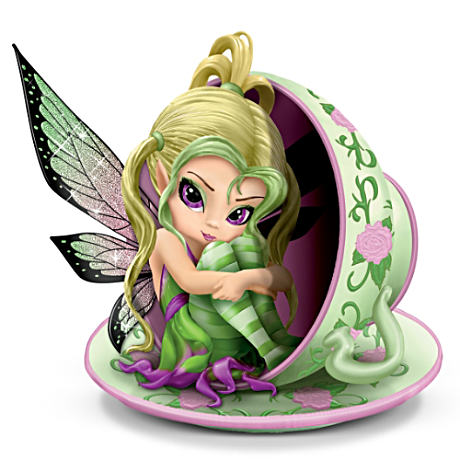 "Jasmine Becket-Griffith ""Tiny Cu-tea"" Fairy Figurine"