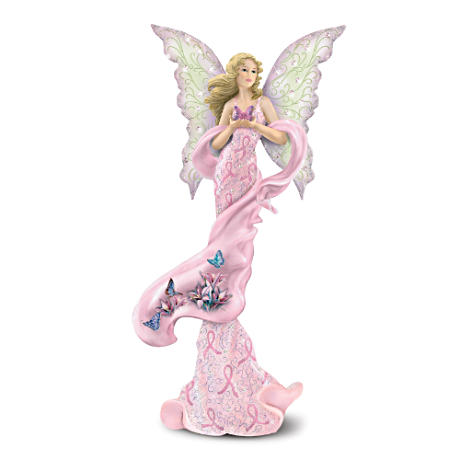 Jody Bergsma Breast Cancer Support Fairy Figurine