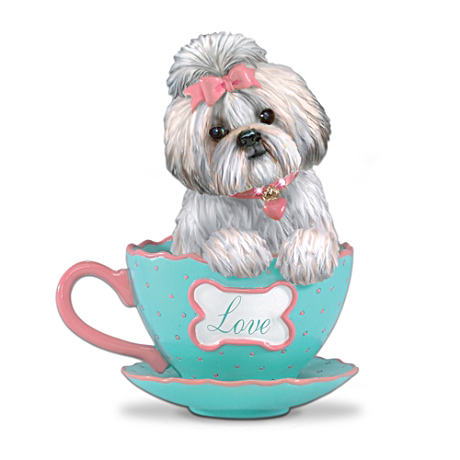 """A Cup Of Love"" Shih Tzu Teacup Figurine"