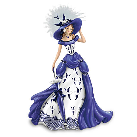 """Rowena"" Blue Willow Pattern Figurine"
