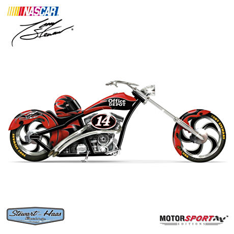 "Tony Stewart ""Office Depot Cruiser"" Motorcycle Figurine"