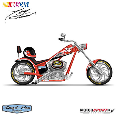 NASCAR Tony Stewart 2011 Sprint Cup Champ Chopper Figurine