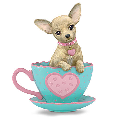 """Just My Cup Of Tea"" Chihuahua Teacup Figurine"
