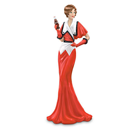 Coca-Cola 1930s Vintage Ad-Inspired Lady Fashion Figurine