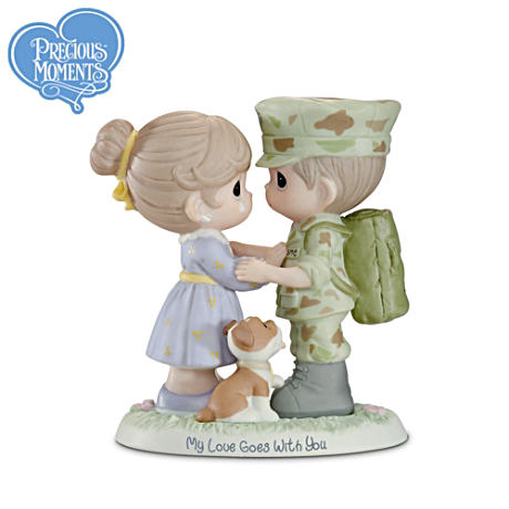 "Precious Moments ""My Love Goes With You"" USMC Figurine"