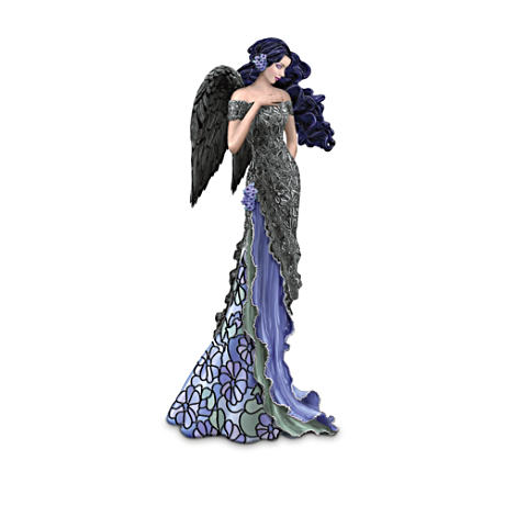 Louis Comfort Tiffany-Style Moonlight Beauty Angel Figurine
