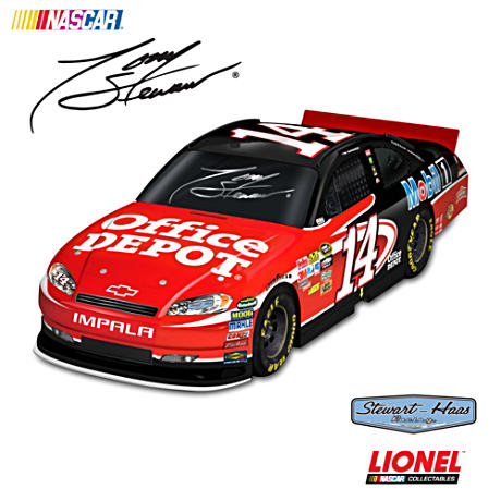 1:18-Scale Tony Stewart #14 Office Depot Race Car Sculpture
