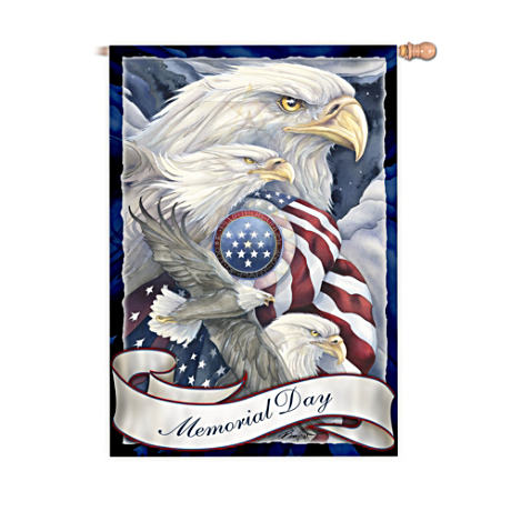 Memorial Day Decorative Patriotic Flag By Jody Bergsma