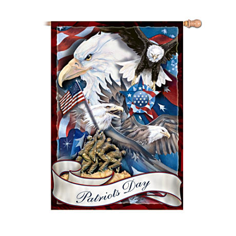 "Jody Bergsma ""Patriots Day"" Decorative Flag"