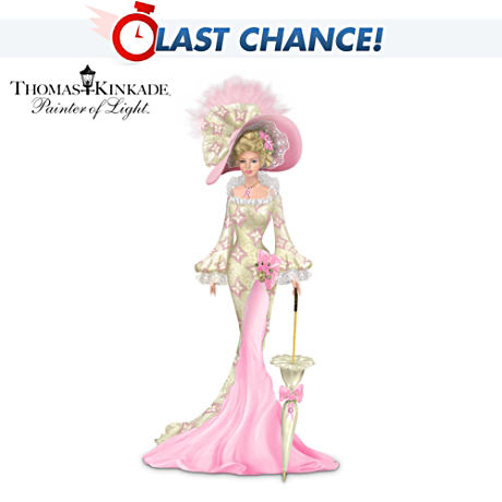 Thomas Kinkade Breast Cancer Support Lady In Real Lace