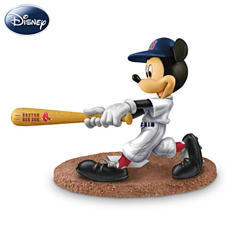 Boston Red Sox Disney Mickey Mouse Batter Figurine