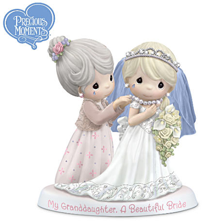 Precious Moments Granddaughter Bride Figurine With Poem Card