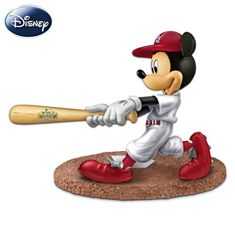 Cardinals World Series Figurine Of Mickey Mouse At Bat