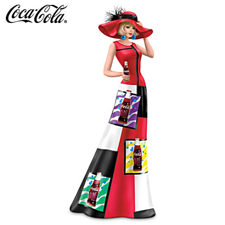 "Coca-Cola Woman Figurine In 1960s ""Pop Art"" Fashions"