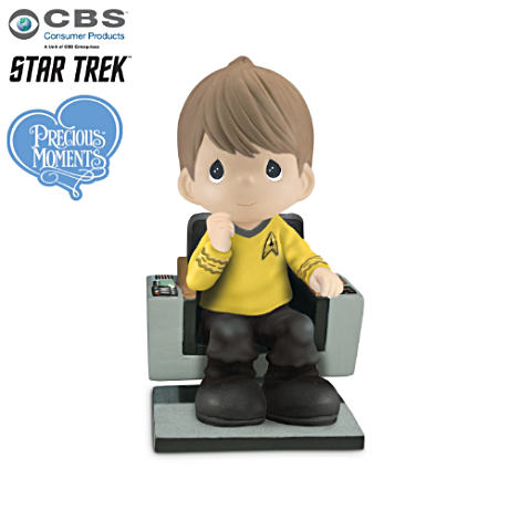 "STAR TREK Precious Moments ""Captain Kirk"" Figurine"