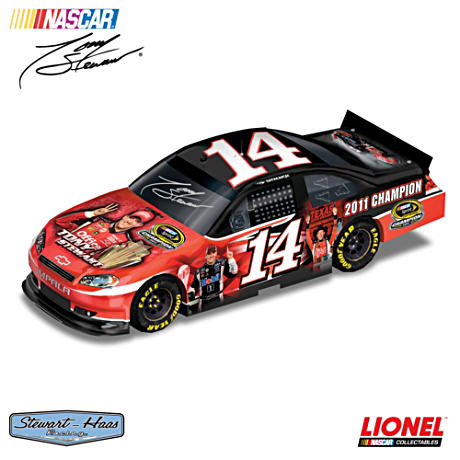 1:18 Scale Tony Stewart 2011 Autographed Car Sculpture