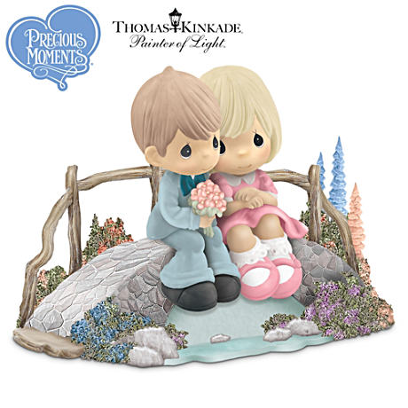 "Precious Moments And Thomas Kinkade ""Sweethearts"" Figurine"