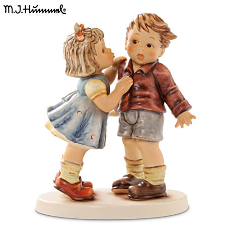 "Authentic M.I. Hummel ""First Kiss"" Porcelain Figurine"