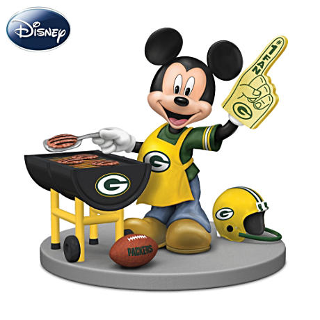 Mickey Mouse Green Bay Packers Tailgating Figurine
