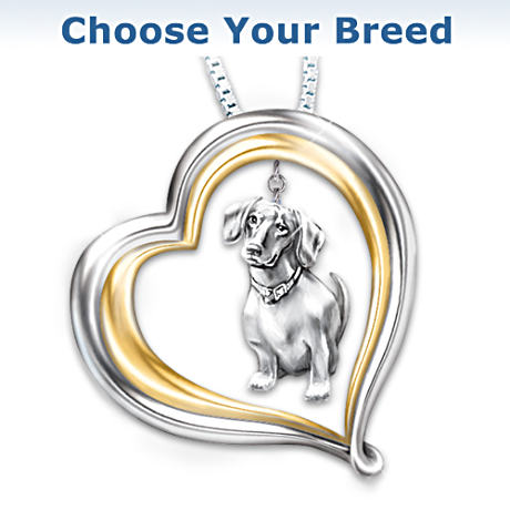 """Love Your Dog"" Breed-Specific Pendant Necklace"