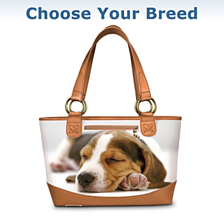 The Dog Lover's Leather-Trimmed Tote Bag