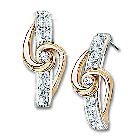 "The ""Lover's Knot"" 18-Diamond Earrings"