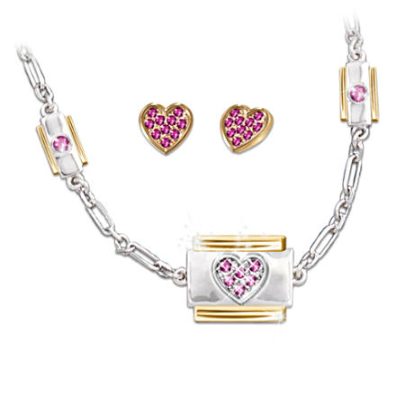 """Always In My Heart"" Necklace And Earring Set"