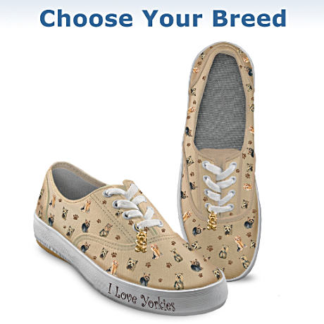 """Playful Pups"" Choose Your Dog Breed Sneakers"