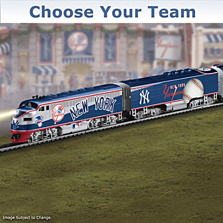 """Choose Your Team"" MLB Illuminated Electric Train"