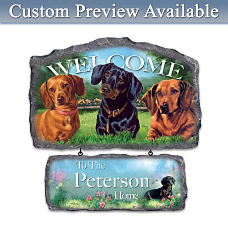 Personalized Linda Picken Art Welcome Sign: Choose A Breed