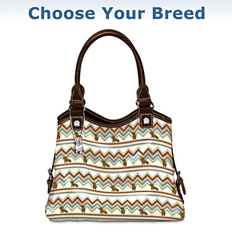 """Choose Your Breed"" Fetching Fashion Handbag With Dog Charm"