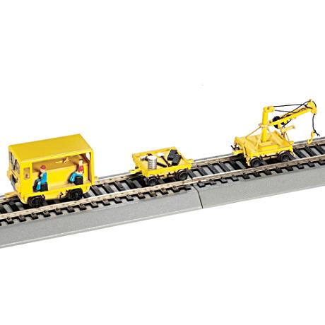 Maintenance Of Way Speeder With Work Crane Train Accessory