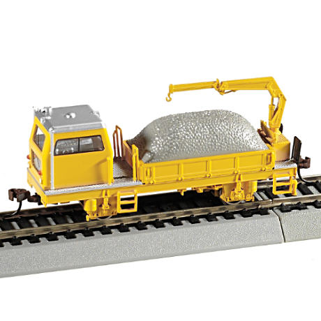 Maintenance Of Way Ballast Vehicle With Crane Accessory