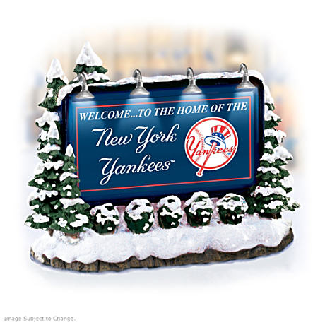 Illuminated New York Yankees Billboard Village Accessory