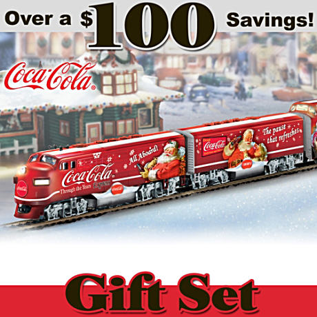 The Illuminated COCA-COLA Christmas Train Set