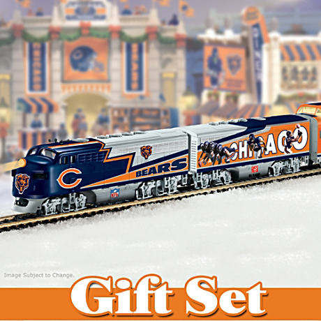 """Chicago Bears Express"" Illuminated Electric Train Set"