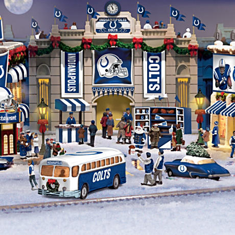 Indianapolis Colts Illuminated Christmas Village Gift Set