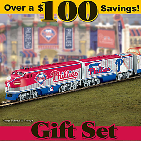 """Philadelphia Phillies Express"" Train Set"