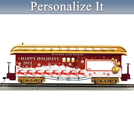 2013 Personalized Illuminated Holiday Train Car